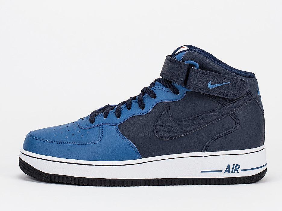 NIKE Basketballschuh Air Force 1 Mid 07 obsidian/brigade blue
