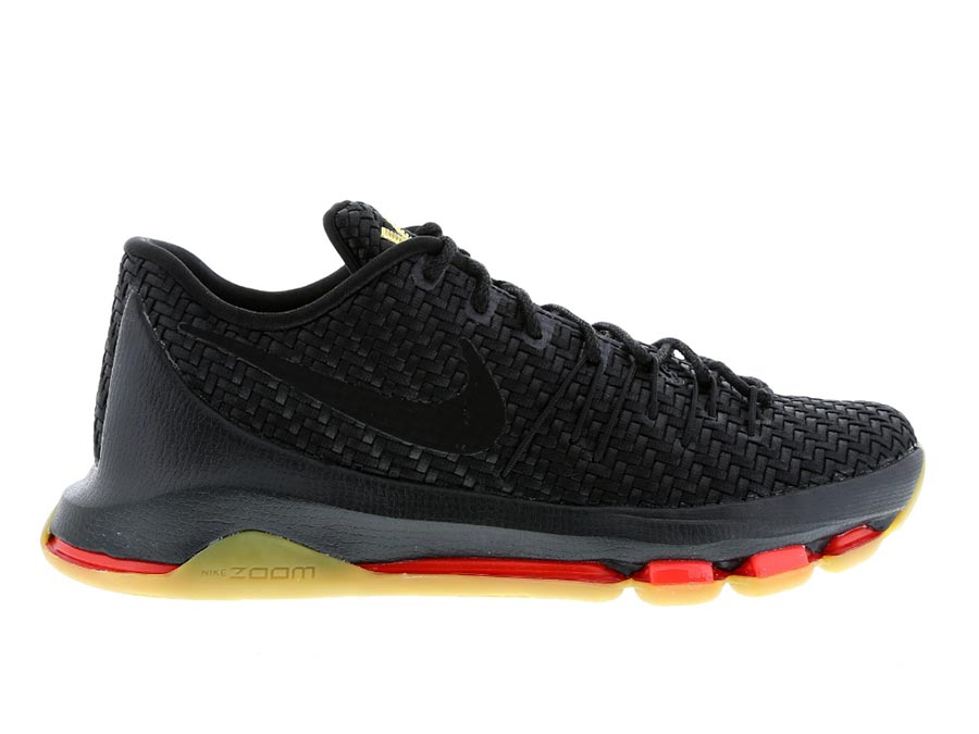 Nike KD 8 - Black-Black-Metallic Gold