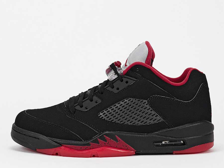 Basketballschuh Air Jordan 5 Retro Low black/gym red/black