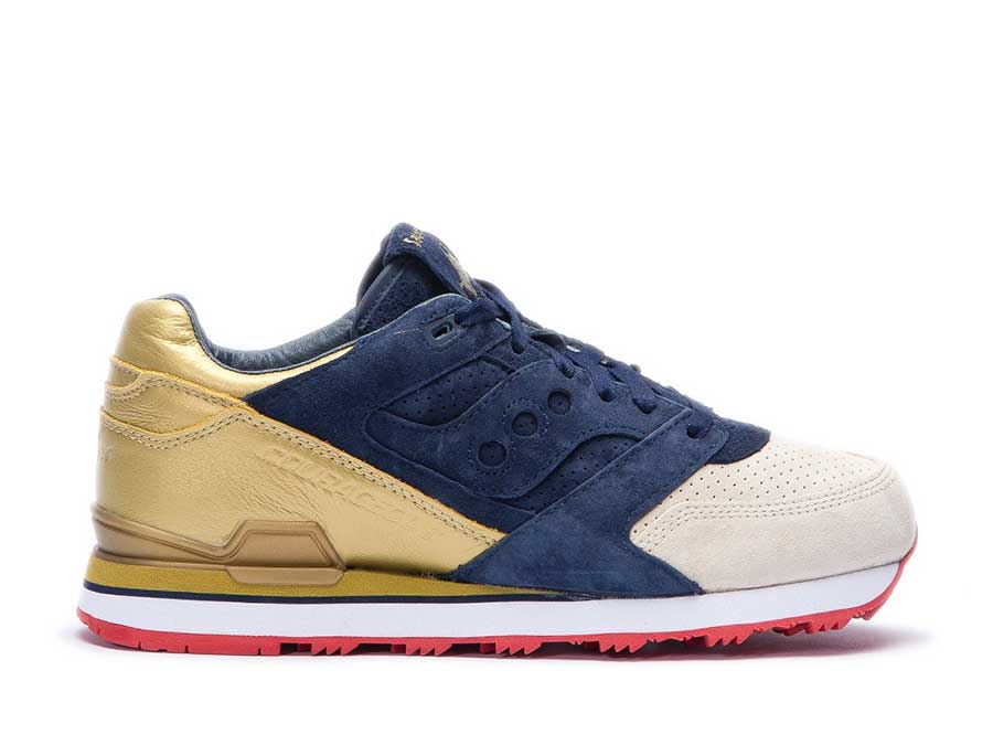 "Saucony x Sneaker Politics Courageous ""Battle of New Orleans - The Jackson"" (Navy/Gold)"