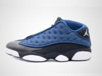 Nike Air Jordan 13 Retro Low 'Brave Blue' (schwarz / blau) Sneaker